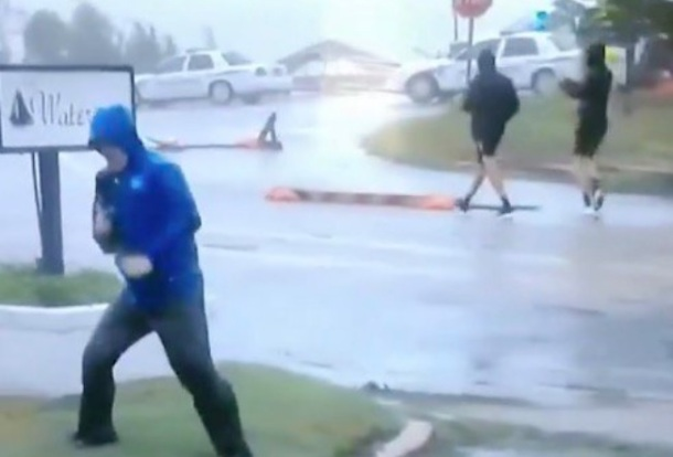 weather channel dramatic reporter